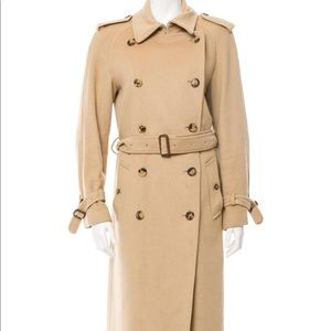 Cashmere Burberry trench coat .